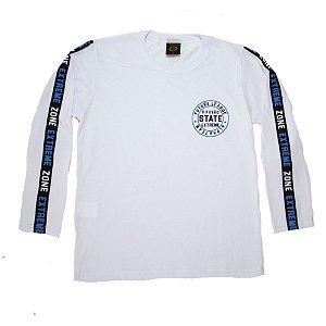 Camiseta Juvenil Manga Longa State Difusão Branca