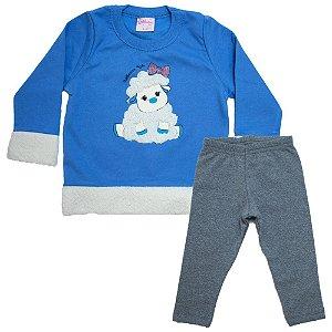 Conjunto Bebê Ovelhinha Wilbertex Azul