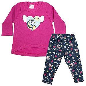 Conjunto Bebê Unicórnio Wilbertex Pink
