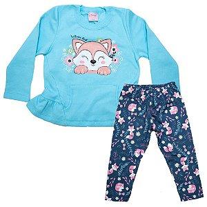 Conjunto Infantil Raposa Wilbertex Azul