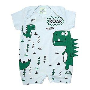 Macaquinho Bebê Dino Verde Jeito Inocente Mescla