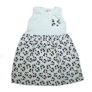 Vestido Infantil Panda Hsa Pérola