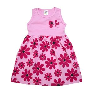 Vestido Infantil Margarida Hsa Rosa