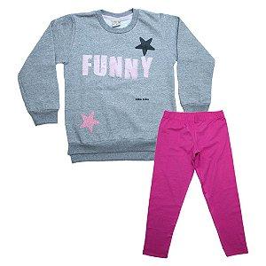 Conjunto Infantil Funny Kibs Kids Mescla