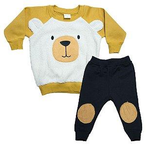 Conjunto Bebê Urso Molekada Mostarda
