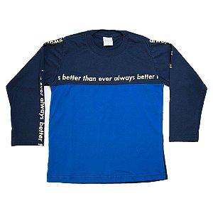 Camiseta Infantil Com Recorte Molekada Azul