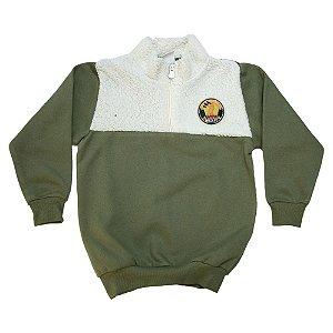 Casaco Infantil Com Pêlo Molekada Verde Militar