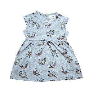 Vestido Bebê Unicórnio Panna Cotta Mescla