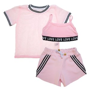 Conjunto Infantil Love Jeito Infantil Rosa