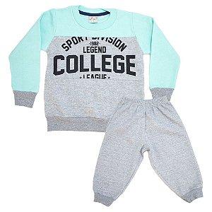 Conjunto Infantil College Kibs Kids Mescla