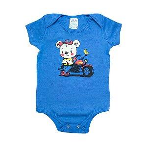 Body Bebê Ursinho Sati Baby Azul