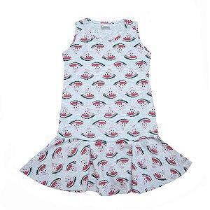 Vestido Infantil Melancia Panna Cotta Mescla