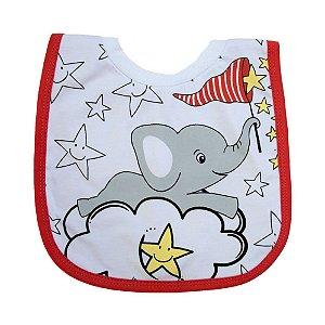 Babador Bebê Camiseta Elefante Fantoni Vermelho