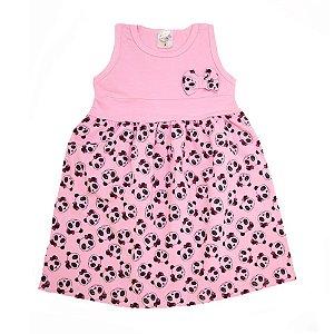 Vestido Infantil Panda Hsa Rosa