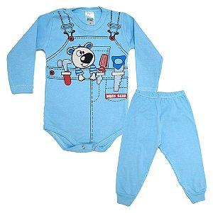 Conjunto Bebê Body Ferramentas  Pho Azul