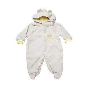 Macacão Bebê Pêlo Corôa Isensee Amarelo