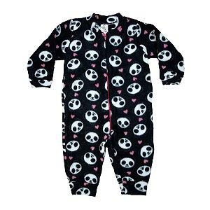 Macacão Infantil Pandas Isensee Preto