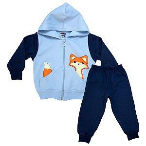 Conjunto Bebê Raposinha Ninando Azul