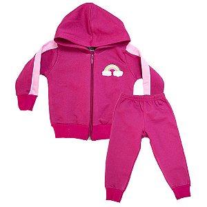 Conjunto Bebê Arco Íris Ninando Pink