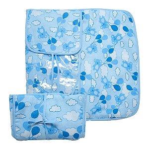 Trocador De Fraldas Ursinhos Azul