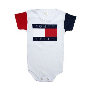 Body Bebê Tommy Leite Meu Bebê Branco