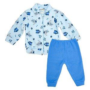 Conjunto Bebê Soft Dog Jeito Inocente Azul
