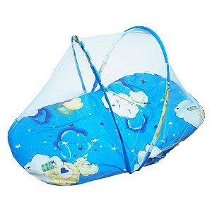 Mosqueteiro Portátil Bebê Azul