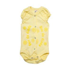 Body Bebê Sou Da Dinda  Amarelo com Amarelo