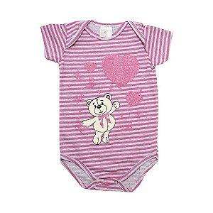 Body Bebê Urso Lolitas Rosa