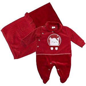 Saída De Maternidade Gatinha Presente De Anjo Vermelho
