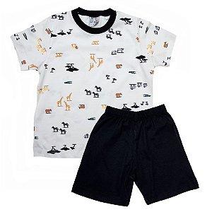 Pijama Infantil Animais Uni Duni Pérola