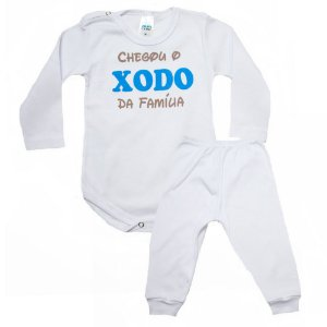 Conjunto Bebê Body Xodó Da Família Pho Branco