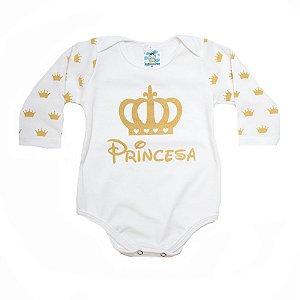 Body Bebê Princesa Anjinho Meu Pérola
