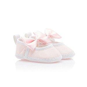 Sapatilha Bebê Com Laço Baby Gut Rosa