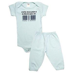 Conjunto Bebê Body Cópia Reduzida Meu Bebê Verde