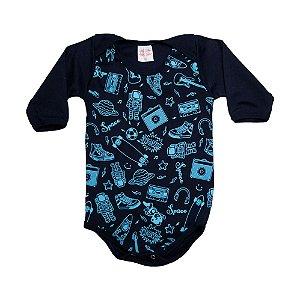 Body Bebê Space Kentury Marinho
