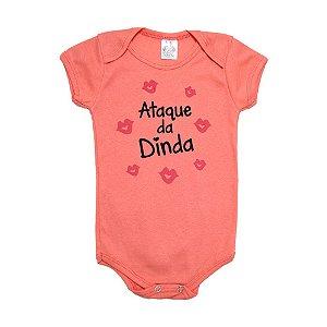 Body Bebê Ataque da Dinda Meu Bebê Salmão