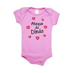 Body Bebê Ataque da Dinda Meu Bebê Rosa