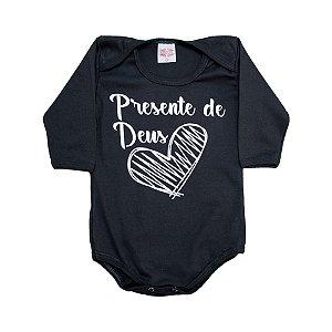 Body Bebê Frase Presente De Deus  Kentury Chumbo