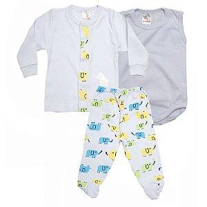 Conjunto Bebê Pagão 03 Peças Isensee Branco
