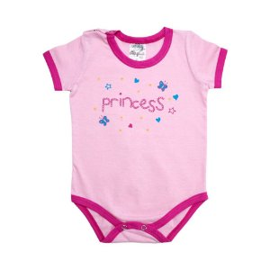 Body Bebê Princess Elô Rosa