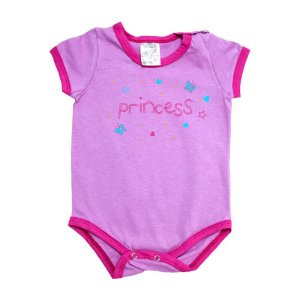 Body Bebê Princess Elô Lilás