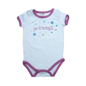 Body Bebê Princess Elô Branco