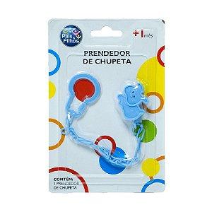 Prendedor De Chupeta Gatinho Pais e Filhos Azul
