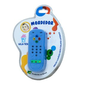 Mordedor Bebê Controle Remoto Vila Toy Azul