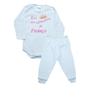 Conjunto Bebê Body Princesa Do Pedaço Pho Branco Com Rosa