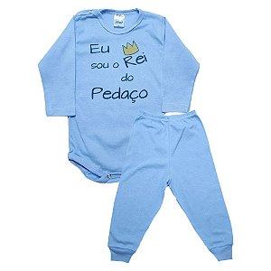 Conjunto Bebê Body Rei Do Pedaço Pho Azul
