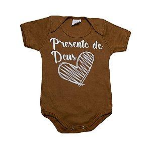 Body Bebê Frase Presente De Deus Kentury Caramelo