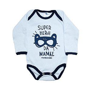 Body Bebê Super Herói Mundo Miúdo Branco