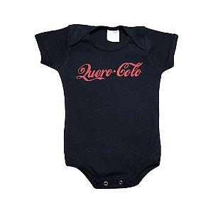 Body Bebê Frase Quero Colo Kentury Preto